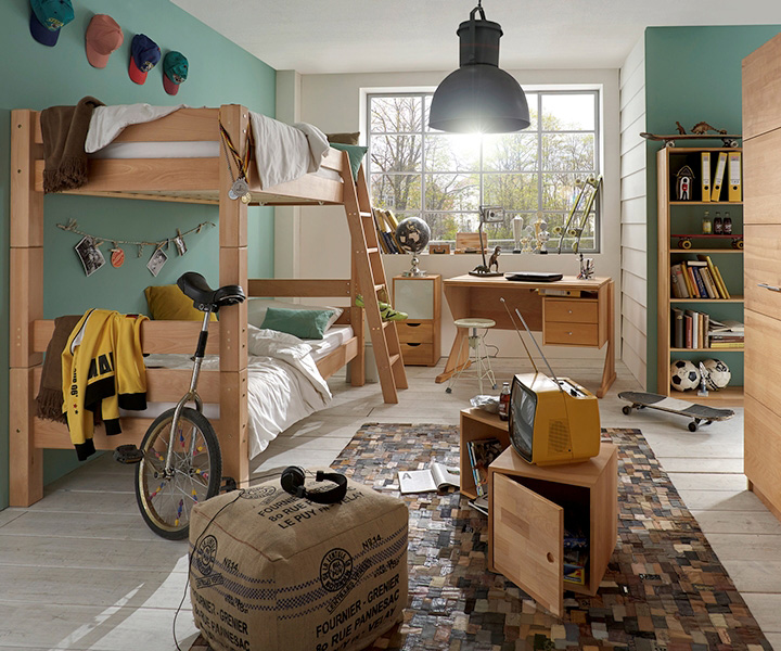 etagenbett abenteuerbett spielbett toby buche m bel online kaufen more2home online shop. Black Bedroom Furniture Sets. Home Design Ideas