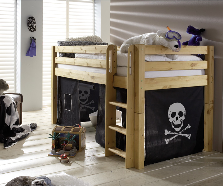 halbhohes bett spielbett abenteuerbett robin m bel online kaufen more2home online shop. Black Bedroom Furniture Sets. Home Design Ideas